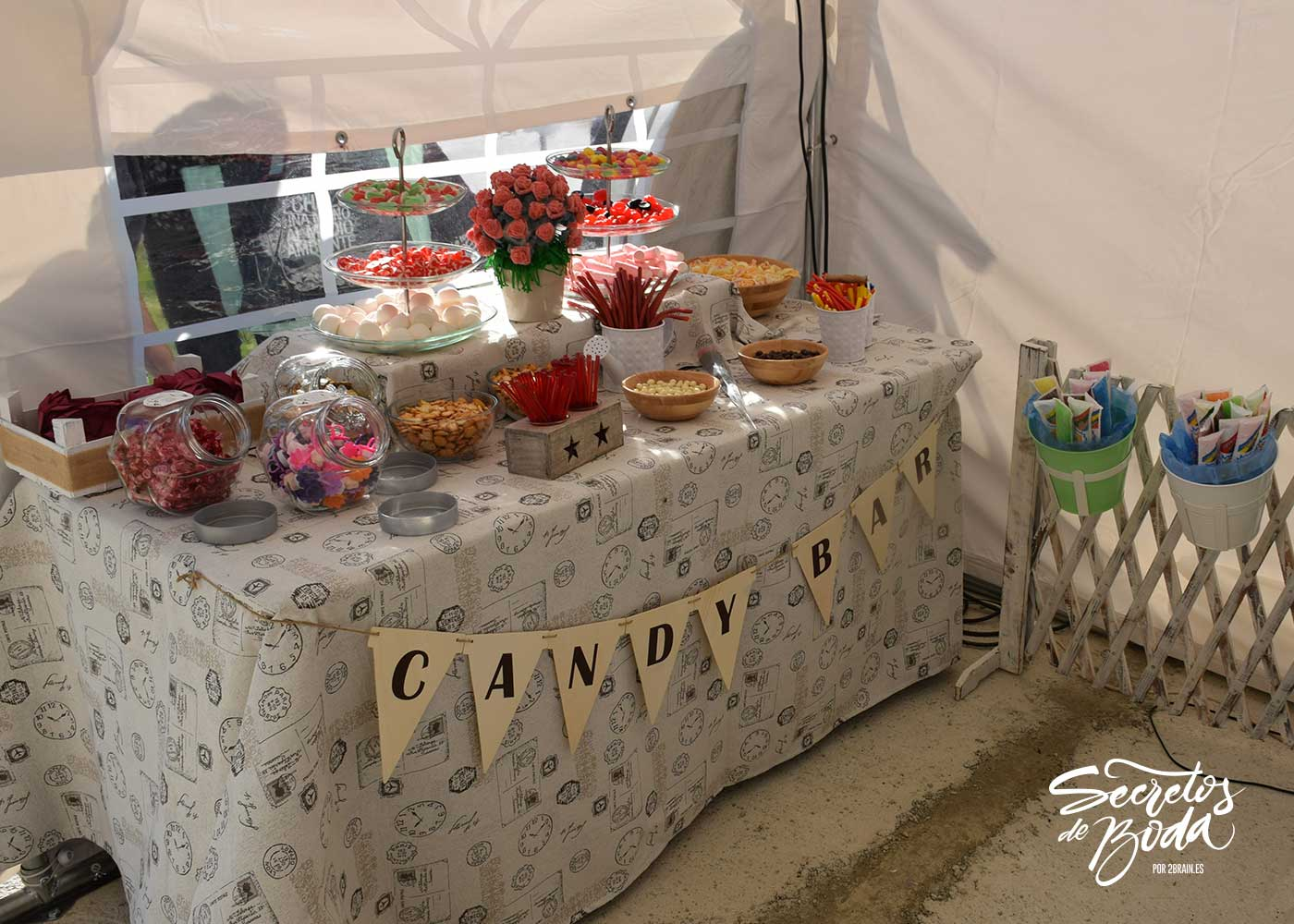 Candy bar: flashes y aire libre
